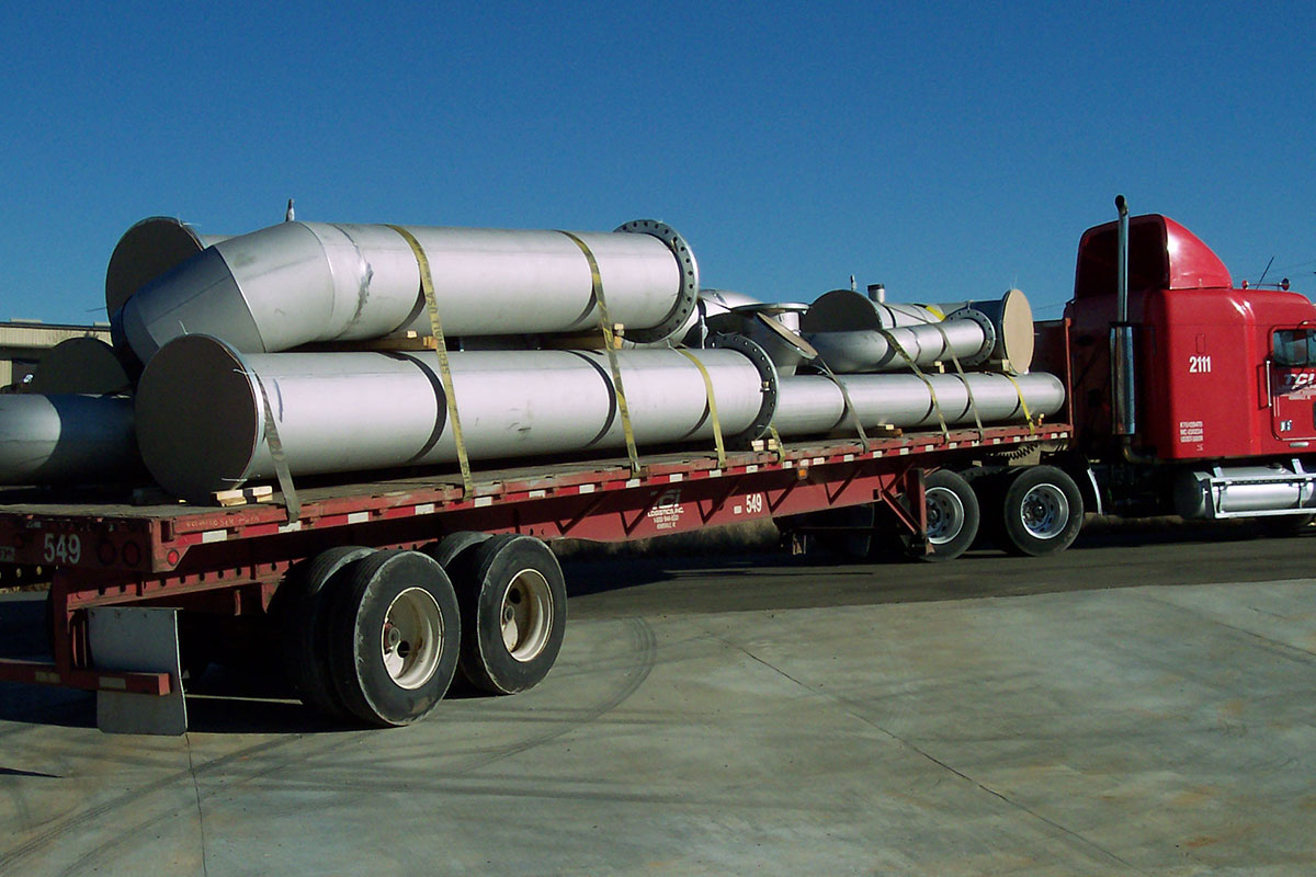 Carolina Industrial Piping, Inc load of large bore stainless steel